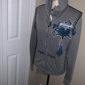 Sinful hoodie sweatshirt jacket.